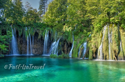 The multiple waterfall centerpiece of Plitvice