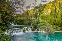 Short waterfall in Plitvice