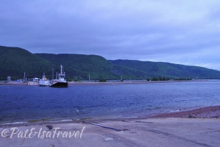 The short Englishtown ferry ride